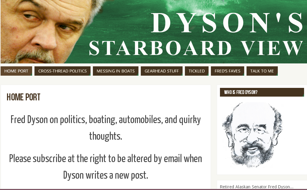 Dyson's Starboard View Blog frontpage